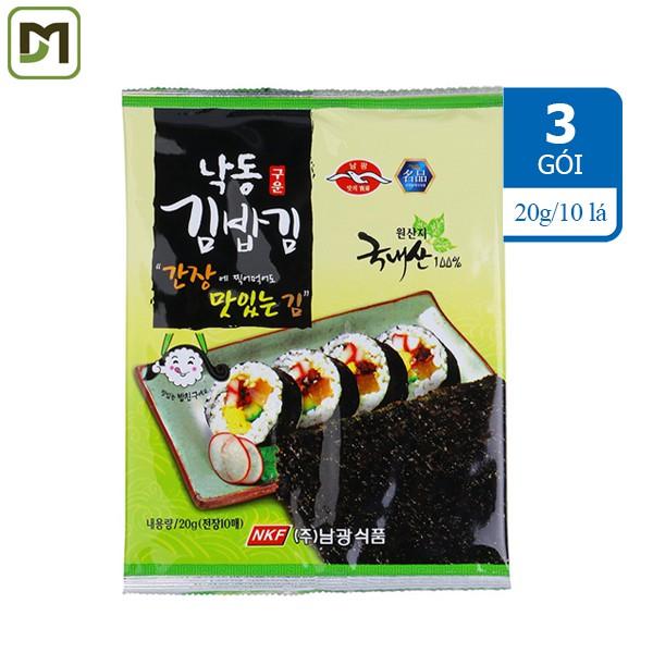 Freeship từ 99k - Combo 3 gói x 20g x 10 lá Rong biển khô cuộn Sushi 100% nguyên chất - Hàn Quốc có - 3475310 , 964396108 , 322_964396108 , 125000 , Freeship-tu-99k-Combo-3-goi-x-20g-x-10-la-Rong-bien-kho-cuon-Sushi-100Phan-Tram-nguyen-chat-Han-Quoc-co-322_964396108 , shopee.vn , Freeship từ 99k - Combo 3 gói x 20g x 10 lá Rong biển khô cuộn Sushi 10