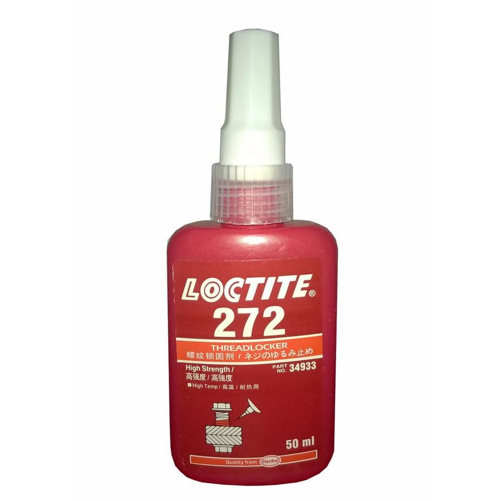 Keo khóa ren Loctite 272, khóa bulong, đai ốc tác dụng tốt cho tất cả các loại ren kim loại, chai 50ml