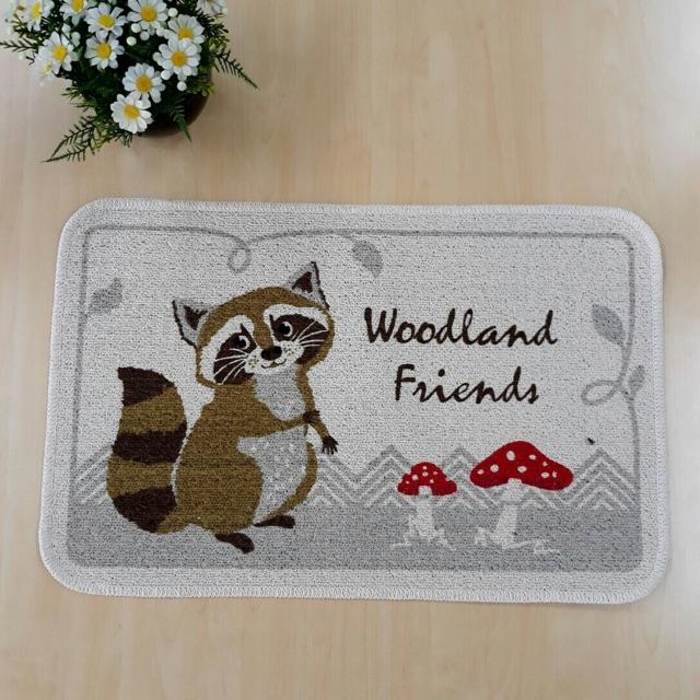 Thảm chùi chân hàng Việt Nam 100% của ACQ mẫu Woodland Friends hàng đẹp chất lượng cao độc quyền tại