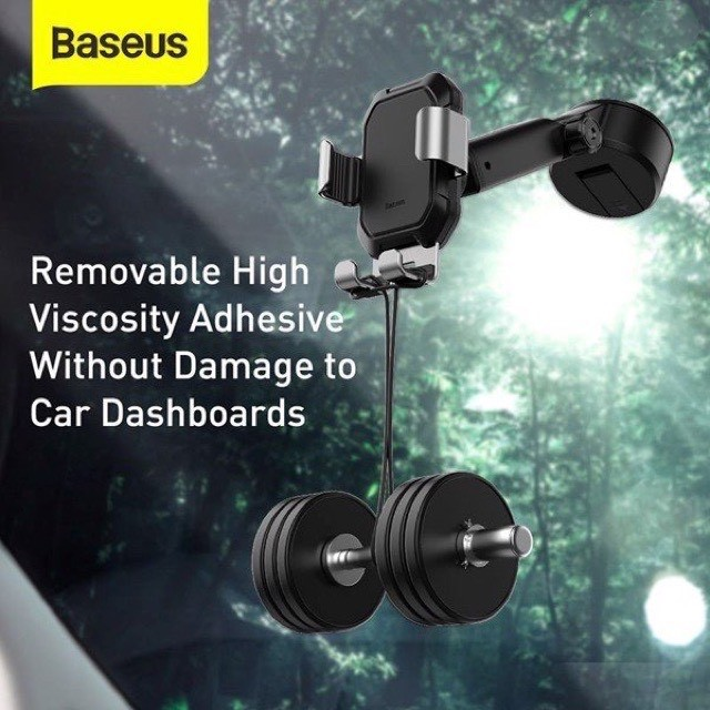 Giá đỡ Kẹp Điện thoai SmartPhone hút chân không để Taplo hay gắn kính  xe Ô tô Xe hơi - Baseus Tank Gravity Car Mount