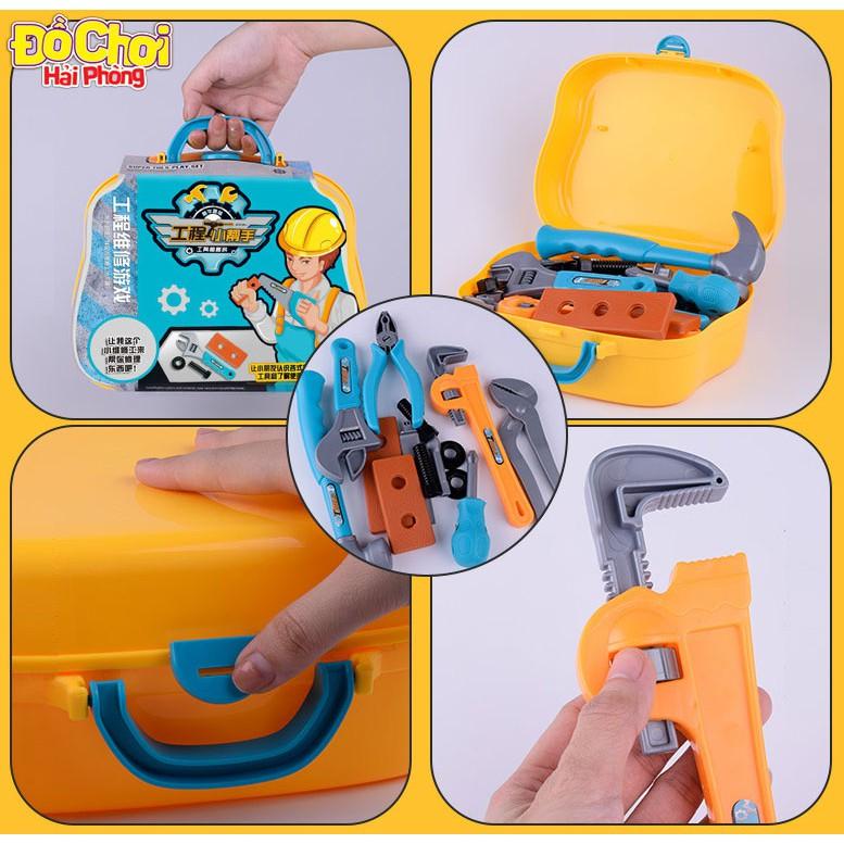 Đồ chơi trẻ em Bộ dụng cụ sửa chữa 12 chi tiết cho bé tập làm kĩ sư Đồchơitrẻem
