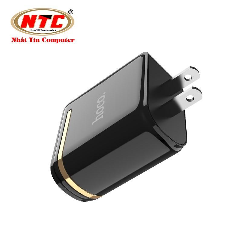 Cốc sạc 2 cổng Hoco C39 US - MAX 5V-2.4A (12W) - màn hình LCD hiển thị điện áp - Hãng phân phối chính thức