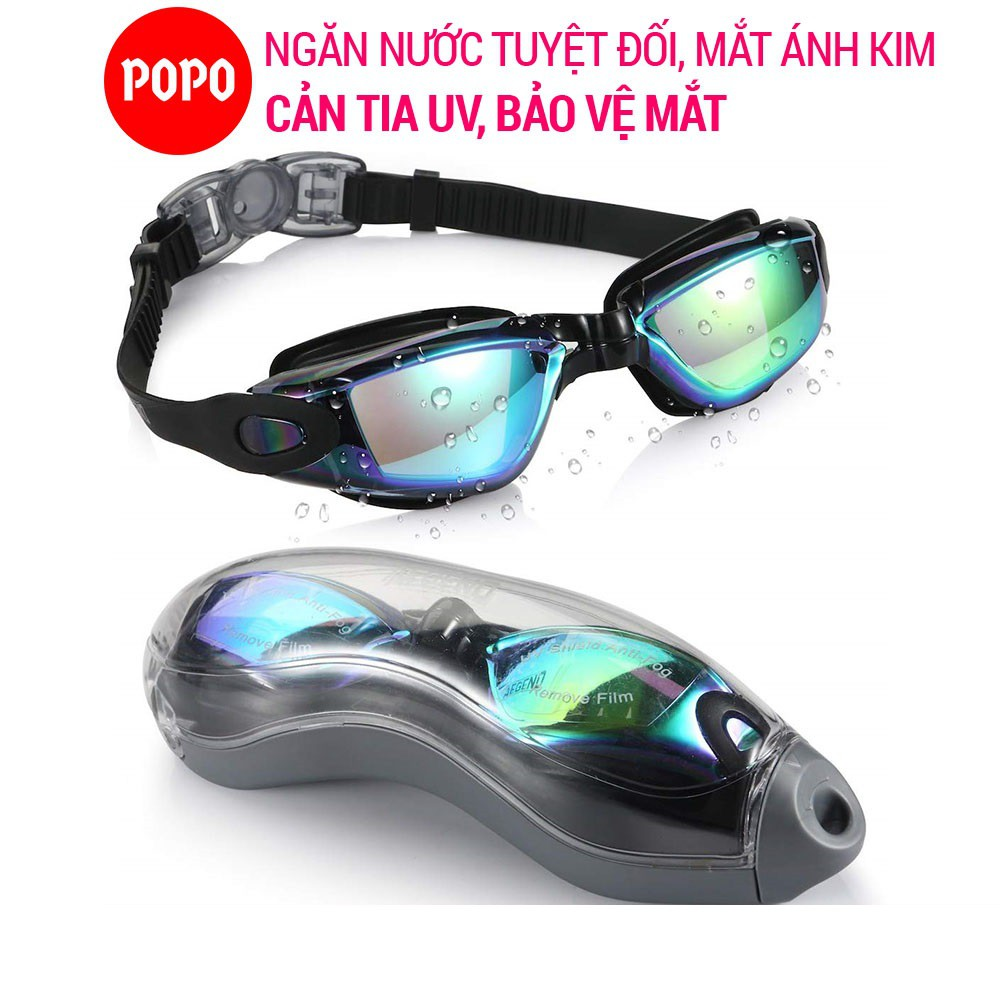 Kính bơi người lớn POPO2360 chất liệu cản tia UV hạn chế sương mờ dùng khi tập bơi, thi đấu cho nam nữ cho bé từ 8 tuổi