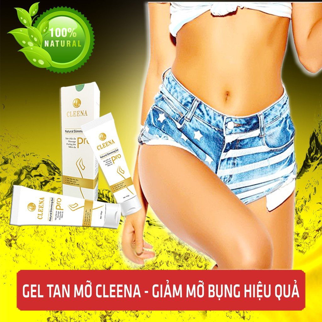 Giảm mỡ bụng với Cleena Natural Slimming Gel