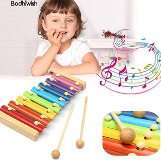 ☎8 Notes Kids Musical Xylophone Piano Multicolor Wooden Instrument bauble