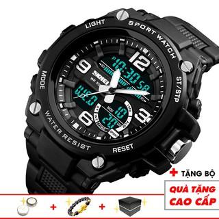 Đồng hồ nam thể thao điện tử SKMEI 1432 cao cấp nam tính, lịch thiệp 3 kim 3 màn hình thời thượng độc đáo
