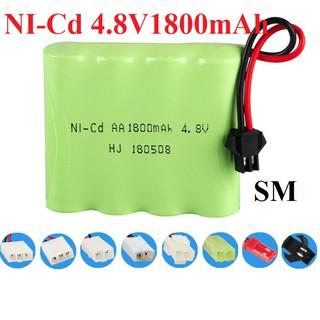 Pin 4.8v 1800mah cổng nối SM cho xe điều khiển thumbnail