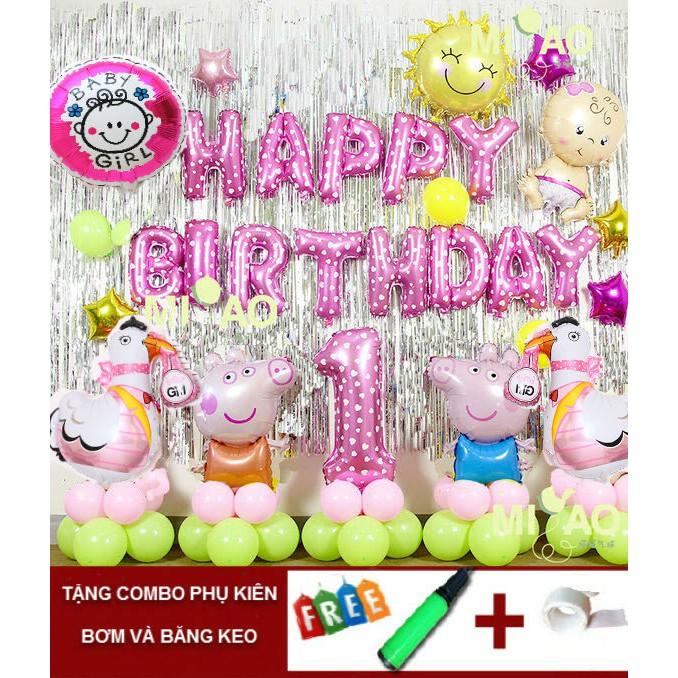 Set bóng trang trí sinh nhật lợn gà 1 tuổi( kèm bơm và băng keo) - 2664686 , 149110680 , 322_149110680 , 260000 , Set-bong-trang-tri-sinh-nhat-lon-ga-1-tuoi-kem-bom-va-bang-keo-322_149110680 , shopee.vn , Set bóng trang trí sinh nhật lợn gà 1 tuổi( kèm bơm và băng keo)