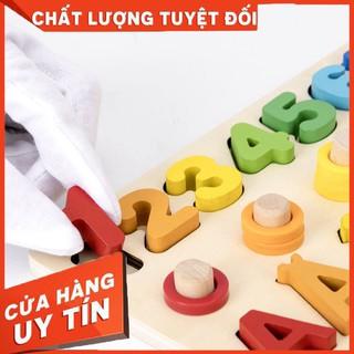 đồ chơi bảng chữ số xếp hình gỗ trí tuệ dành cho bé học đếm – Hàng nhập khẩu