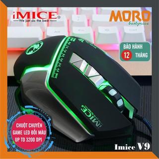 Chuột máy tính có dây iMICE V9 (Best choice of Gamers) Led đổi màu Độ nhạy max 3200 DPI thumbnail