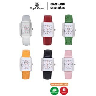 Đồng hồ nữ chính hãng Royal Crown 3645 dây da nhiều màu thumbnail