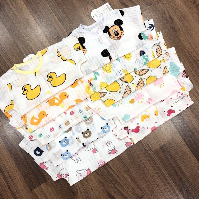 Combo 5 bộ cotton giấy cực xinh cho bé QATE41