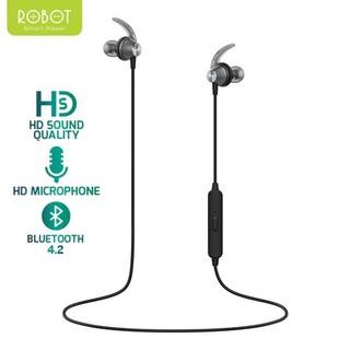Tai Nghe Bluetooth-Kiểu Dáng Thể Thao-Âm Thanh Trung Thực Sắc Nét -ROBOT R5- BẢO HÀNH 1 ĐỔI 1 CHÍNH HÃNG
