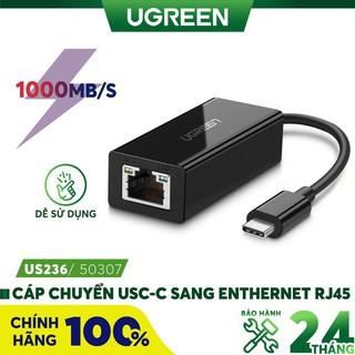 Cáp USB Type-C to Lan 10 100 1000Mbps Ugreen 50307 - Hàng Chính Hãng thumbnail
