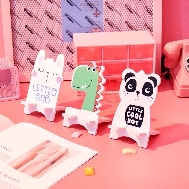 Giá đỡ điện thoại bằng gỗ nhiều hình cute