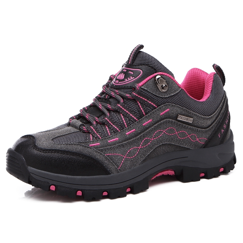 Couple Outdoor Hiking Shoes Comfortable Wearable Breathable Low-top Shoes