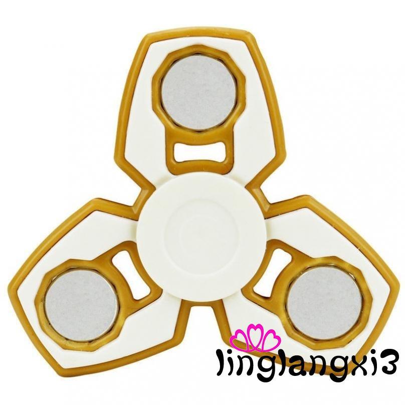 .GI-Anti-Stress Tri-Spinner Fidget Toy Ceramic EDC Hand Finger Spinner Desk