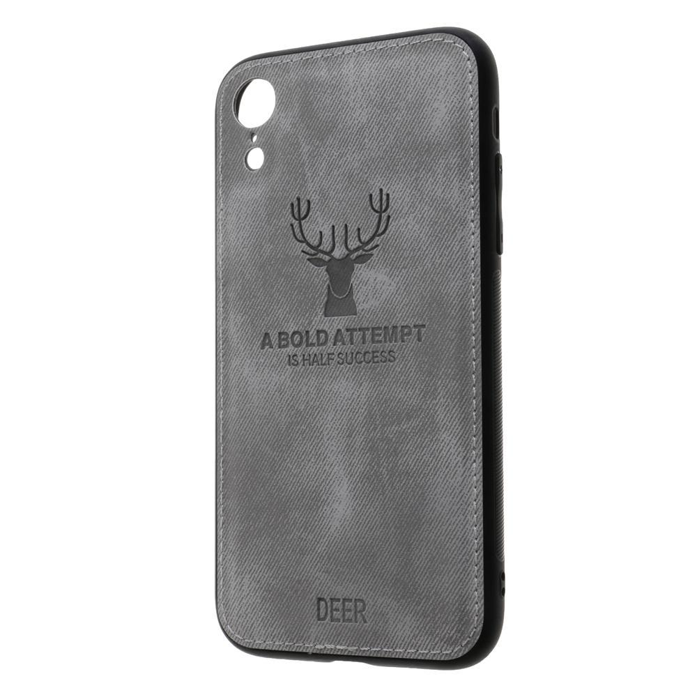 geeka-Stylish PU & Cloth Elk Shockproof Protective CaseFor Apple iPhone XR
