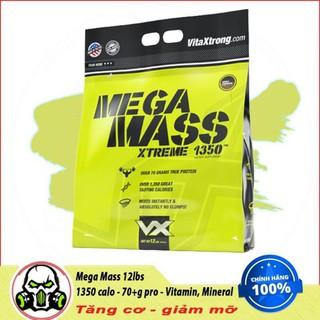 [Freeship + Quà] Sữa Dinh Dưỡng Tăng Cân Nhanh VitaXtrong Mega Mass 12lbs (5.6 kg) TPBS