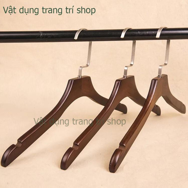 Móc gỗ nâu trơn cao cấp 44cm ( bộ 10 móc )