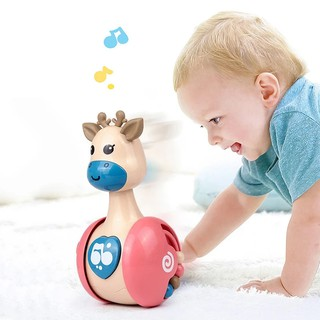 Con lật đật phát nhạc, bằng nhựa an toàn cho bé, đồ chơi cho trẻ nhỏ, trẻ sơ sinh độc đáo, dễ thương