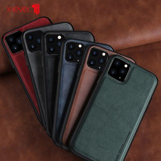 Ốp điện thoại phối da màu trơn thiết kế siêu mỏng cho iPhone 11 Pro max iPhone 6/6S 6/6SPlus 7/8 7/8Plus X/XS XR XS Max