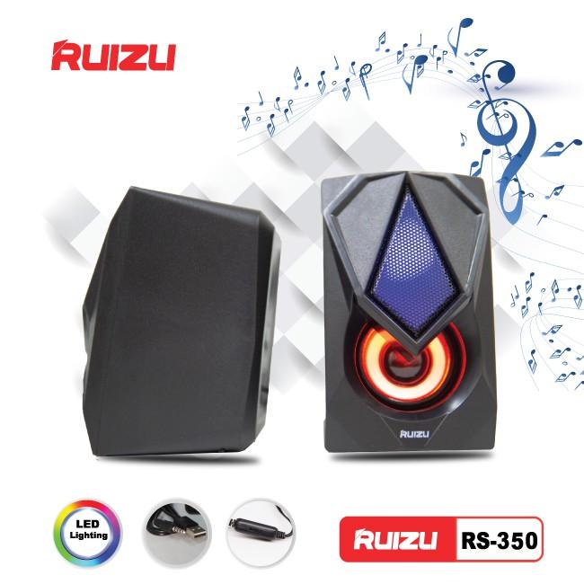 Loa vi tính 2.0 Ruizu RS350 led âm thanh sôi động - Hãng phân phối