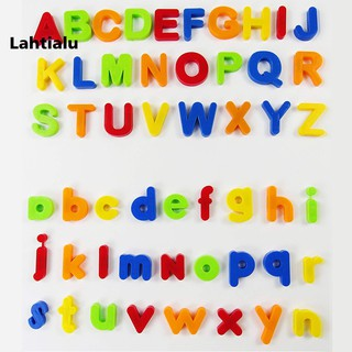 Lahtialu Multicolor Magnetic Numbers Alphabet Fridge Magnet Learning Education Kids Toy