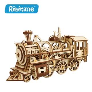 📌(HÀNG CÓ SẴN) Mô hình lắp ghép gỗ – Mô hình cơ động học Đầu Máy Xe Lửa – Locomotive Robotime ⚙️⚙️