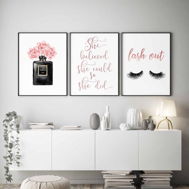 Tranh canvas trang trí thời trang 40 x 60 x 3 - SM134