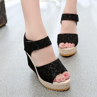 Giày đế xuồng nữ cao cấp Size 35 đến 40 màu kem, đen 9 phân V68 thumbnail