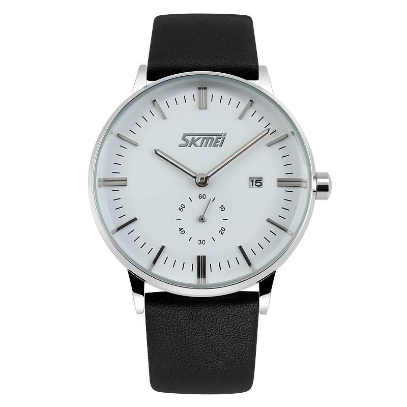 Đồng hồ nam Skmei chống nước chạy 4 kim dây da cao cấp