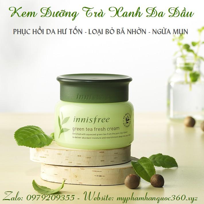 Kem Dưỡng Dành Cho Da Dầu – Innisfree Green Tea Fresh Cream - 3172591 , 293781179 , 322_293781179 , 290000 , Kem-Duong-Danh-Cho-Da-Dau-Innisfree-Green-Tea-Fresh-Cream-322_293781179 , shopee.vn , Kem Dưỡng Dành Cho Da Dầu – Innisfree Green Tea Fresh Cream