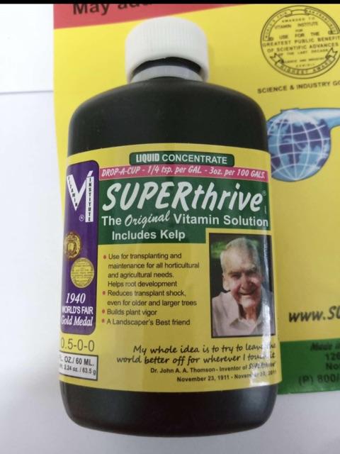Superthrive chai 60ml 100% nhập từ Mỹ bổ sung 50 hóoc-mon phá vỡ chậm phát triển của cây