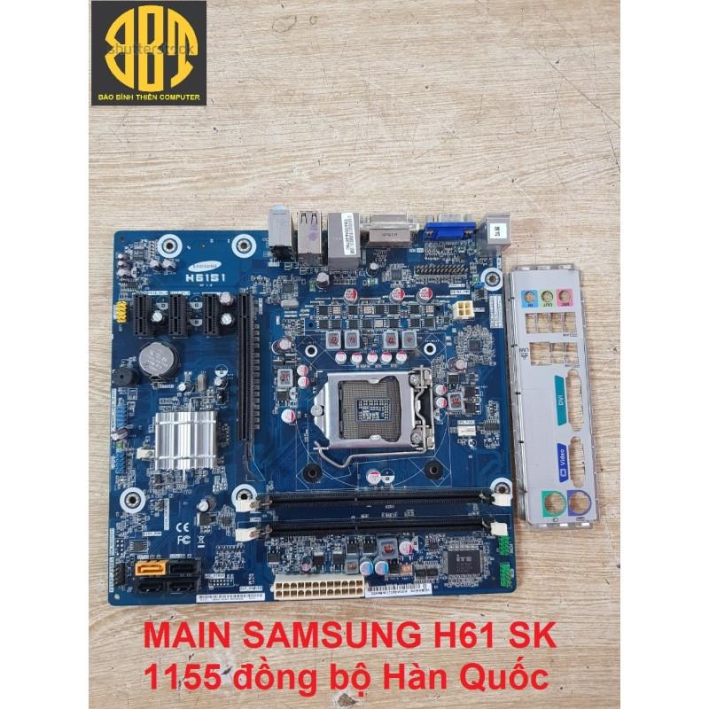 Main samsung H61 socket 1155 nhập khẩu Hàn Quốc. Bảo hành 3 năm
