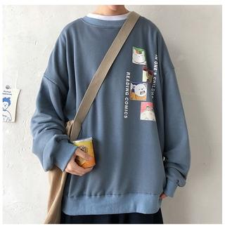 Áo Sweater Dáng Rộng Cổ Tròn Cá Tính Cho Nam