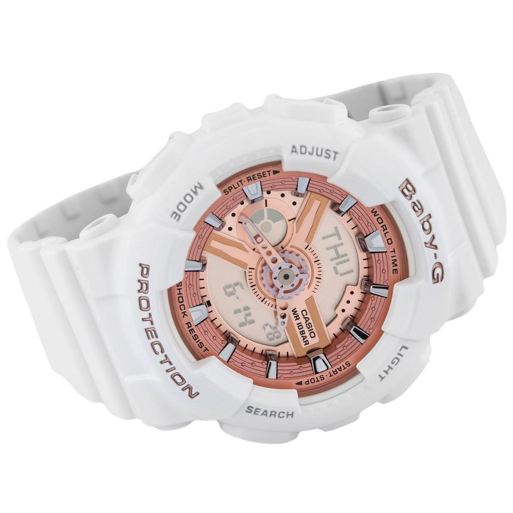 Đồng hồ nữ dây nhựa Casio Baby-G chính hãng Anh Khuê BA-110-7A1DR