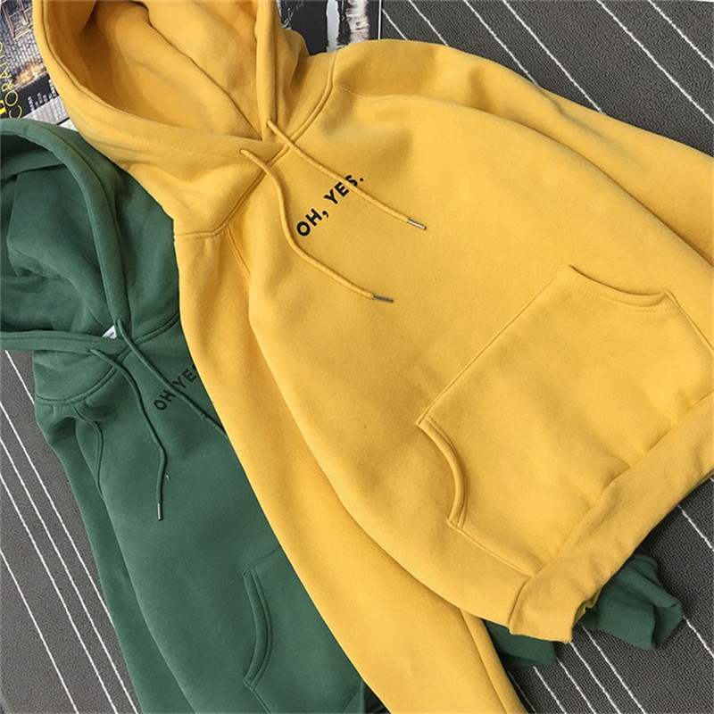 เสื้อกันหนาวหลวมแขนยาวเสื้อสวมหัวฤดูใบไม้ร่วงและฤดูหนาวใหม่ตัวอักษรเกาหลีเสื้อยืดคลุมด้วยผ้า
