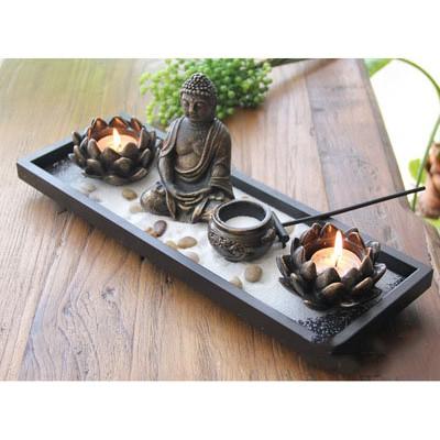 Bộ 3 cốc để nến phong thủy hình Phật