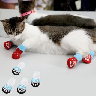 ❣❣Pet Supplies Cartoon Cute Pet Socks Cat Socks Puppy Socks Soft Socks 4pcs