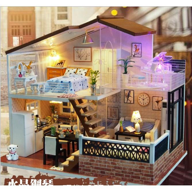 Mô hình nhà búp bê gỗ DIY – One Meter Sun – ngôi biệt thự ấm áp