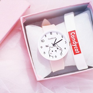 (Giá sỉ) Đồng hồ thời trang nữ Candycat Mèo Kute Ms889