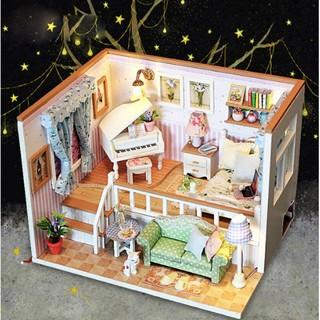 Nhà Búp Bê DIY – Căn Phòng M026 (Kèm Keo+Mica+ Bộ Dụng Cụ)