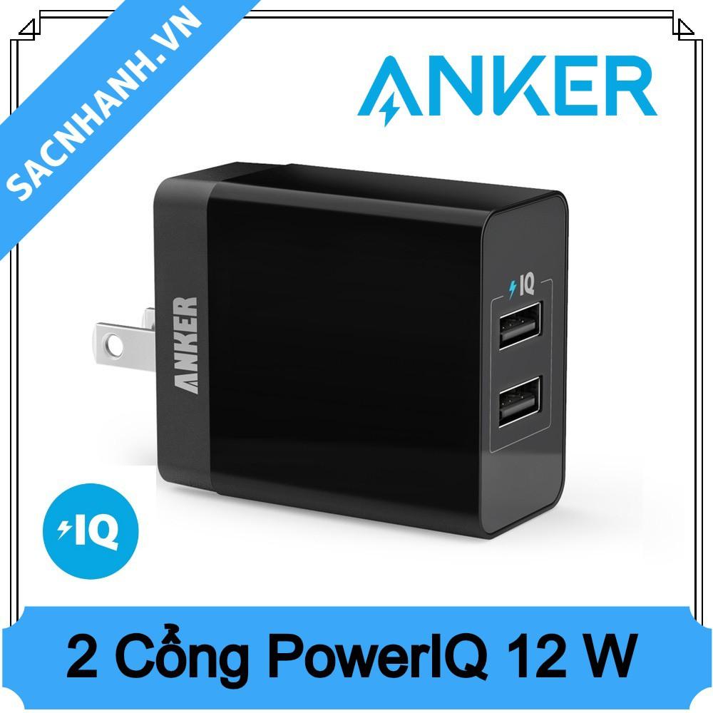 Sạc Anker PowerPort 2 Lite 12W 2 cổng PIQ - 2429802 , 46487800 , 322_46487800 , 275000 , Sac-Anker-PowerPort-2-Lite-12W-2-cong-PIQ-322_46487800 , shopee.vn , Sạc Anker PowerPort 2 Lite 12W 2 cổng PIQ