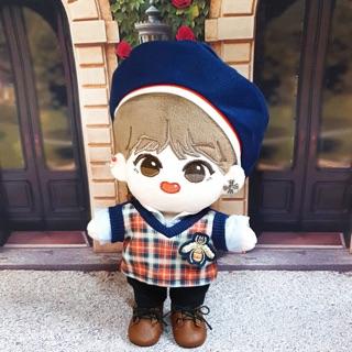 Búp bê nhồi bông BTS Doll 20cm Meow tae Taehyung V, Meow jjin Jin doll