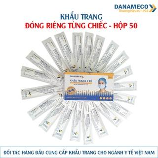 Khẩu trang loại đóng riêng từng chiếc tiệt trùng Danameco - Hộp 50 cái thumbnail