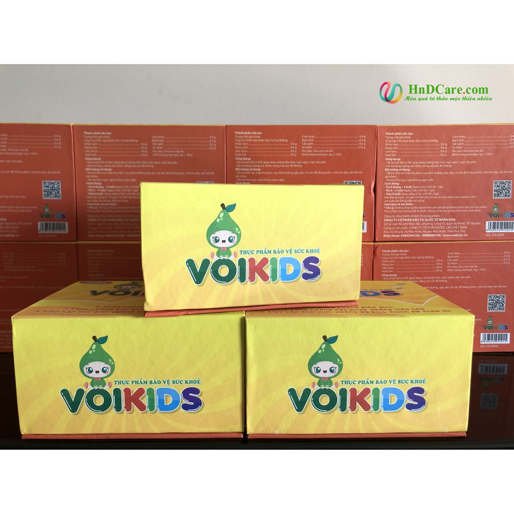 [SALE XẢ HÀNG] Cốm cải thiện biếng ăn VOIKIDS (tăng cường đề kháng, ngủ ngon, ăn ngon cho bé) - hộp 20 gói