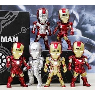 Mô hình iron man led 6 mẫu (bộ 1) lẻ
