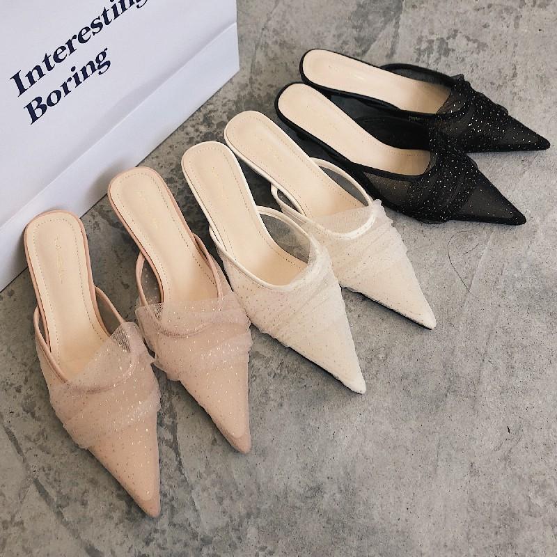 (HÀNG ORDER) Giày sục nữ mũi nhọn 3p GNCM