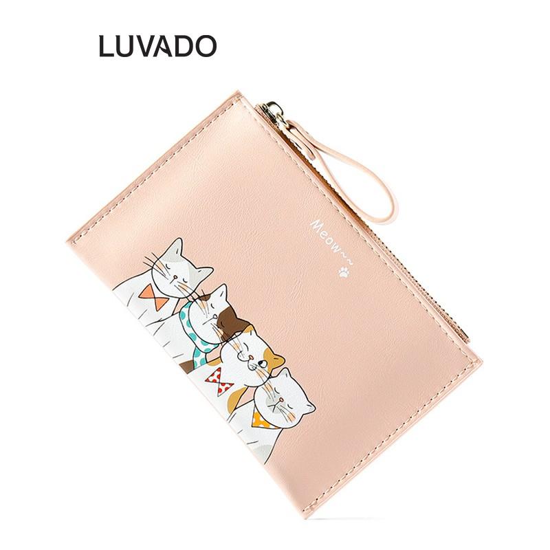 Ví nữ nhỏ gọn bỏ túi mini TAOMICMIC cao cấp cầm tay đựng tiền cute LUVADO VD384